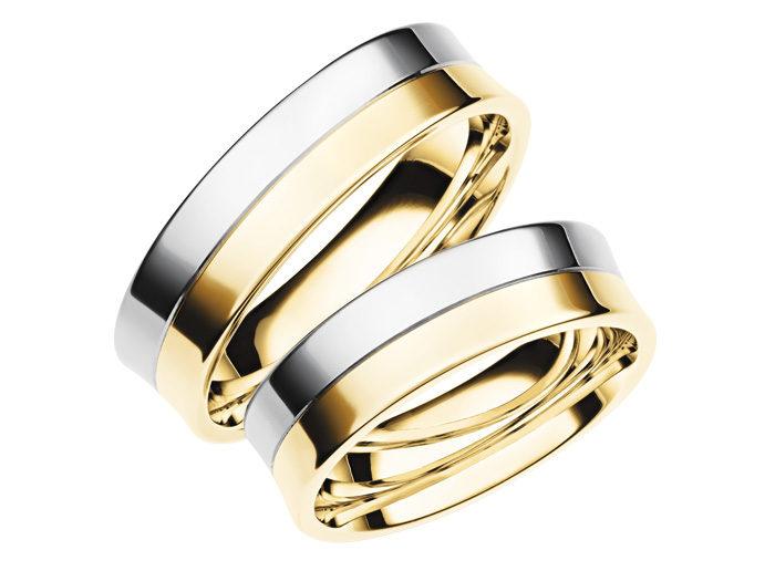 Divkrāsu gredzeni, Laulību gredzeni, Gredzeni no baltā zelta