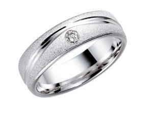 baltā zelta matēti gredzeni, matēts gredzens, matēts gredzens ar rakstu, matēts gredzens ar briljantu, sieviešu gredzens