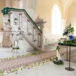 pušķota baznīca kāzām