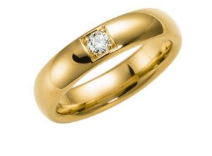 dzeltenā zelta laulību gredzei, laulību gredzeni ar briljantu, saderināšanās gredzeni