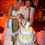 kāzu torte, dzeltenais kāzās