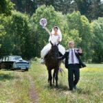 jaunais pāris, zirgi kāzās