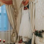 kāzu rīts, kāzu kleita, ziemas kāzas, Mālpils muiža