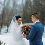 jaunais pāris, kāzas ziemā