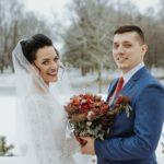 kāzu fotosesija, kāzas ziemā