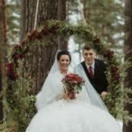 jaunā pāra šūpoles, kāzas ziemā