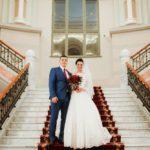 Nacionālais Mākslas muzejs kāzās, fotosesija uz trepēm kāzās