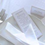 karaliskas kāzas, kāzu galda kartes