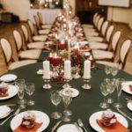 kāzu galda noformējums, ziemas kāzas
