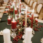 sarkans uz zaļš kāzās, Ziemassvētku noformējums kāzām