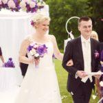 kāzu ceremonija, lillā tonis kāzās