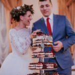 ziemas kāzas, naked cake in wedding, plikā kūka kāzām