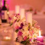 Kāzu galdu dekorācijas, 3 sveces kāzās, Billes nams
