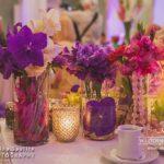 kāzu dekorācijas, violetie toņi