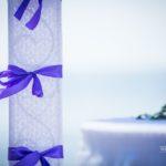 kāzu dekorācijas, lillā tonis kāzās