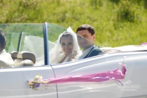 kāzu auto, jaunais pāris