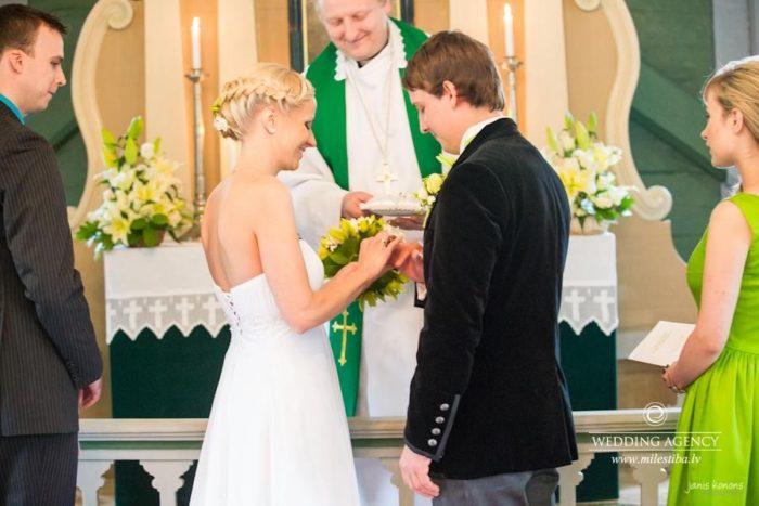 laulību ceremonija, Turaidas baznīca
