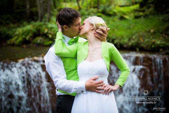 rudens kāzas, zaļais tonis kāzās