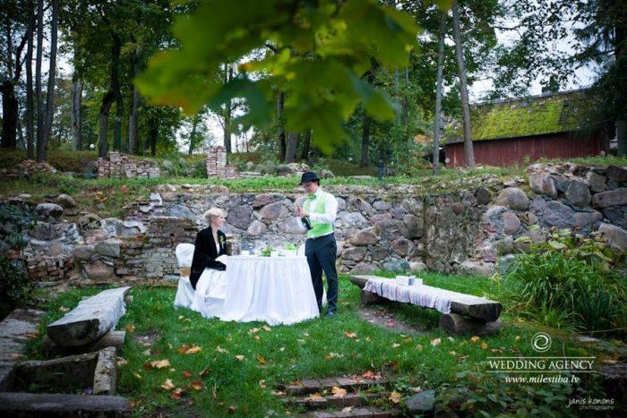 kāzas brīvā dabā, rudens kāzas