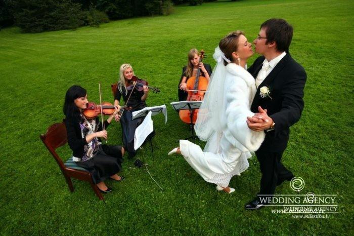 stīgu trio kāzās
