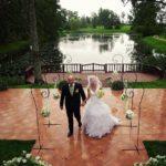 kāzas uz Jaunmoku pils terases