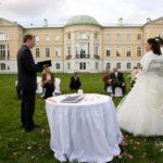 kāzas pie Mežotnes pils