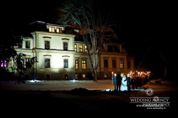 kāzas Dikļu pilī
