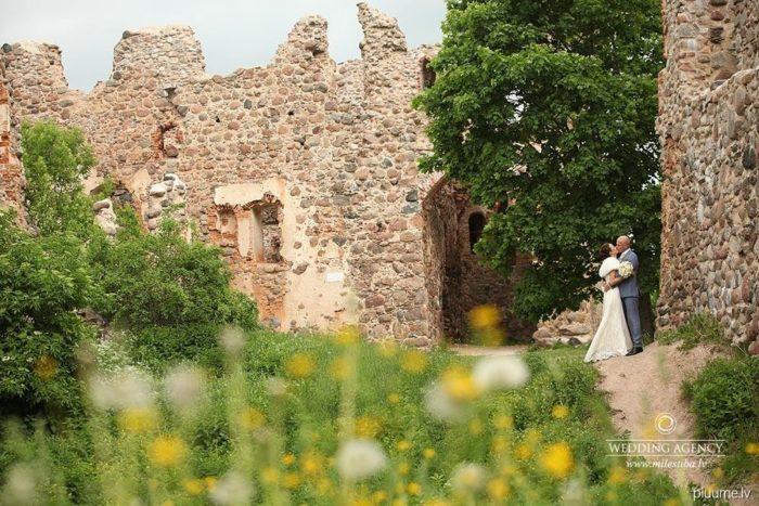 māksliniecisks kāzu foto, pienenes kāzās
