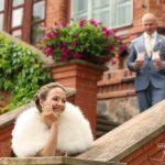 romantiski kāzu foto, pils kāzās