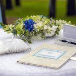 kāzu dekorācijas, laulību ceremonija