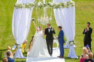 Mežotnes pils ceremonija, vip kāzas