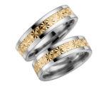 Zelta un titāna gredzeni,Titāna un zelta gredzeni, laulību gredzeni no titāna, laulību gredzeni no titāna un zelta, divkrāsu gredzeni, orģināli gredzeni, titāna un zelta, zelta un titāna, laulību gredzenu komplekti