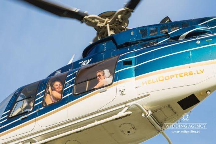 helikopters kāzās, kāzas krievu valodā