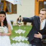 šampānieša piramīda kāzās, baltic pictures