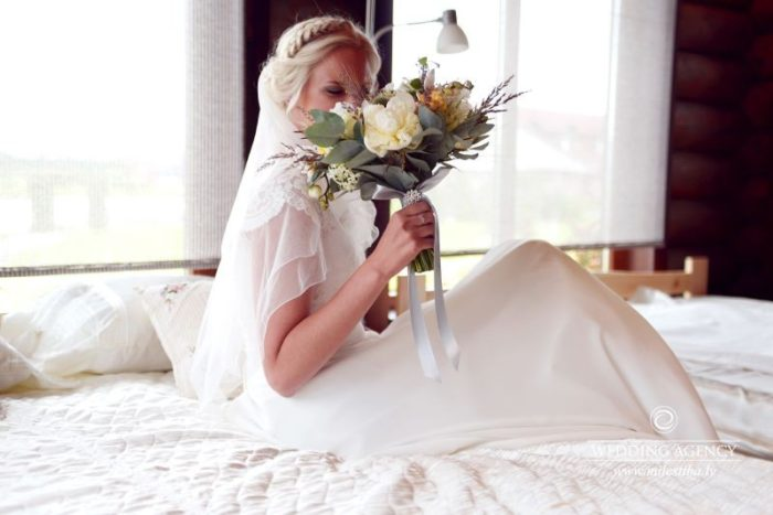 Līgava, līgavas pušķis, kāzu rīts
