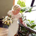 kāzu fotosesija, līgava, trepes