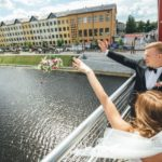 Mītavas tilts, kāzu tradīcijas, jaunais pāris, kāzas Jelgavā