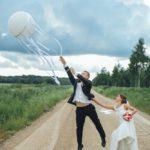 balons kāzu fotosesijā