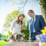 kāzās kaķis, jaunais pāris