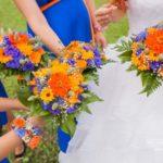 kāzu pušķi, oriģinālas krāsas kāzās