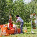 rīta pucēšanās, oranžā krāsa kāzās