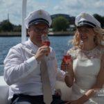 jūras tēma kāzās, kuģītis kāzās