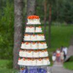 kūciņtorte kāzās, spilgta torte kāzās