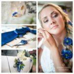 zilais tonis kāzās
