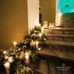 Mežotnes pils, pils trepju dekorācijas kāzām
