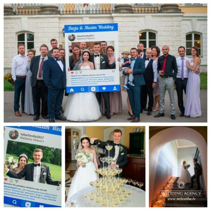 instagram kāzās, mūsdienīgas kāzas, modernas kāzas, šampānieša piramīda, wedding agency