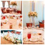 kāzas Bīriņu pilī, kāzu galdu dekori