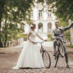 riteņi kāzās, oriģināli kāzu foto