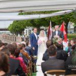 laulību ceremonija, laiva, mācītājs