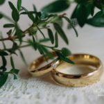 laulību gredzeni, Schalins, kāzas